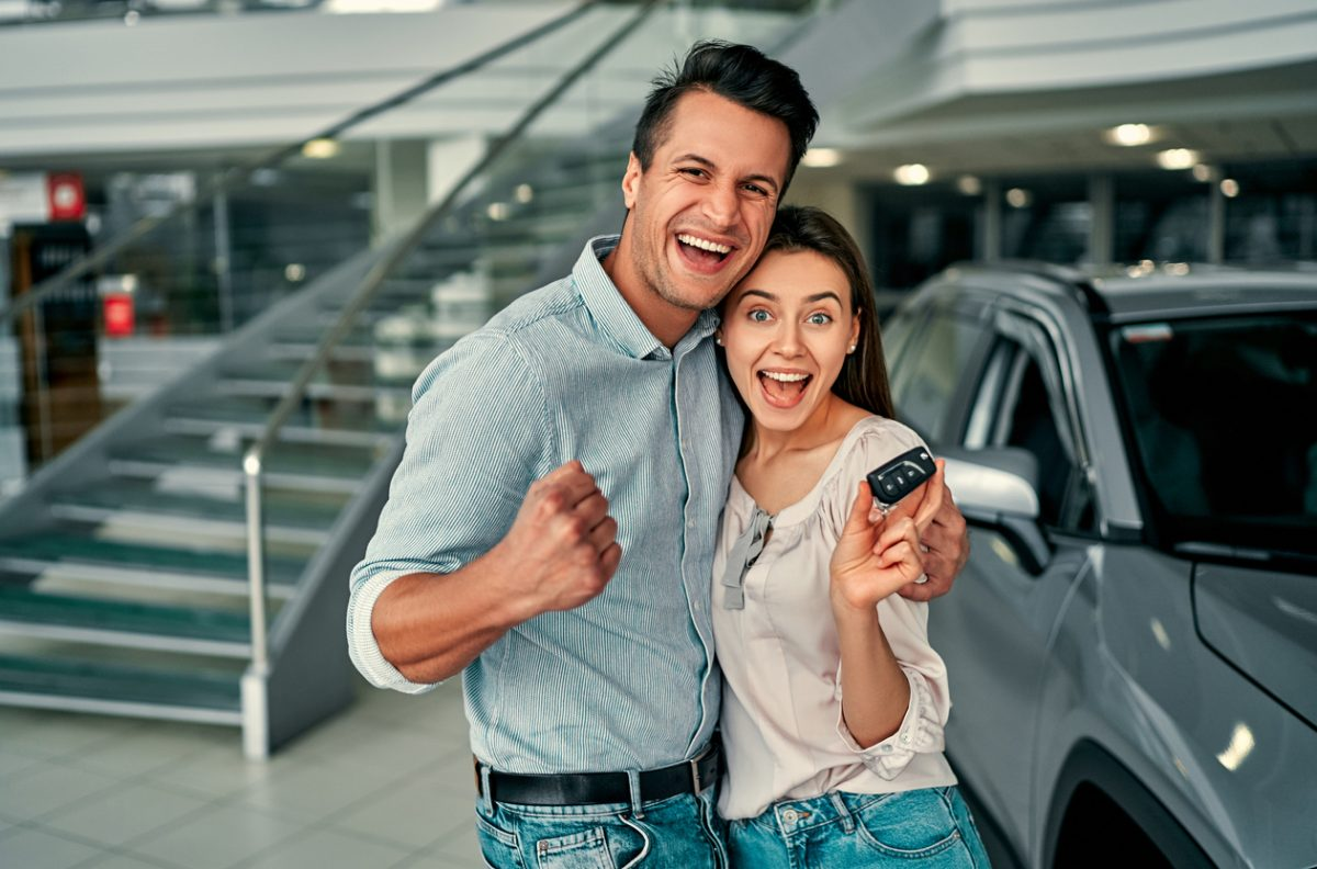 A happy couple at Toyota of Abilene